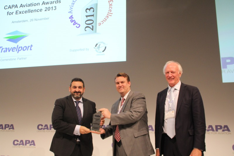 Alex Cruz, CEO for Vueling, ved CAPA Aviation Awards for Excellence 2013
